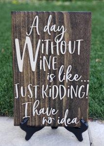 winerusticsignwithout